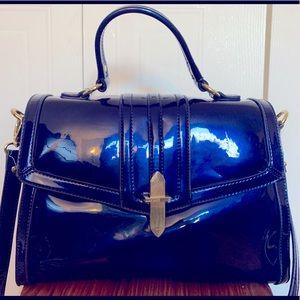 Nine West blue patent handbag